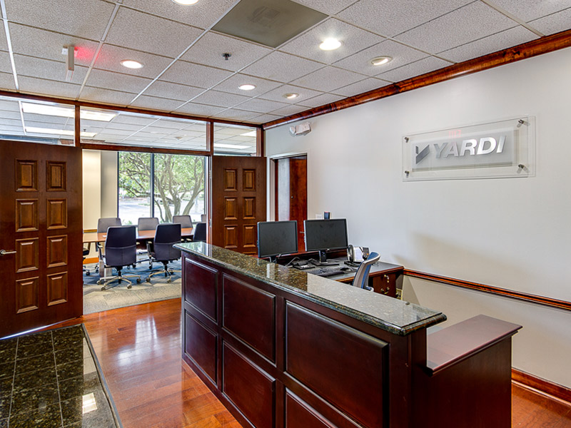 yardi reception area and meeting room