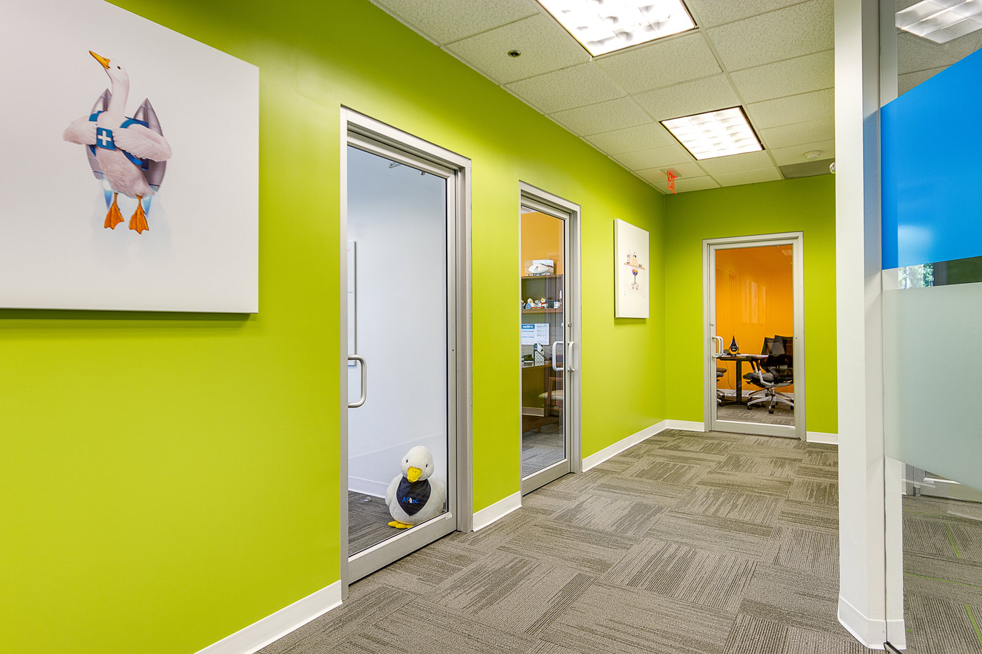 hallway of Aflac office