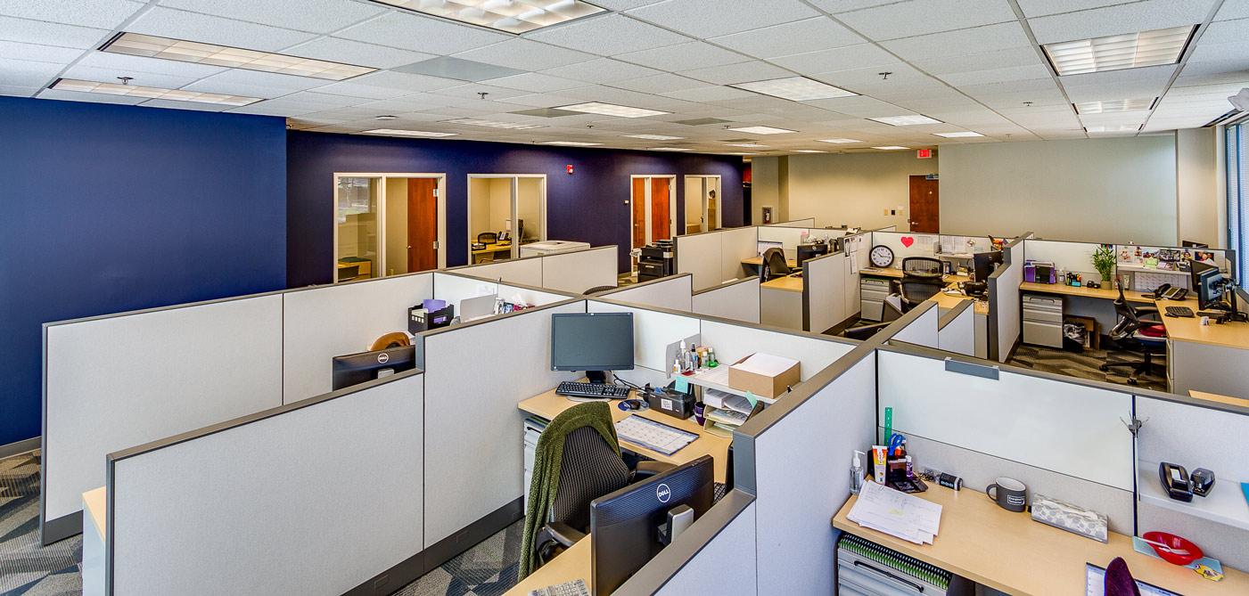 large cubicle block