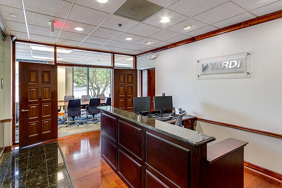 reception area of Yardi office